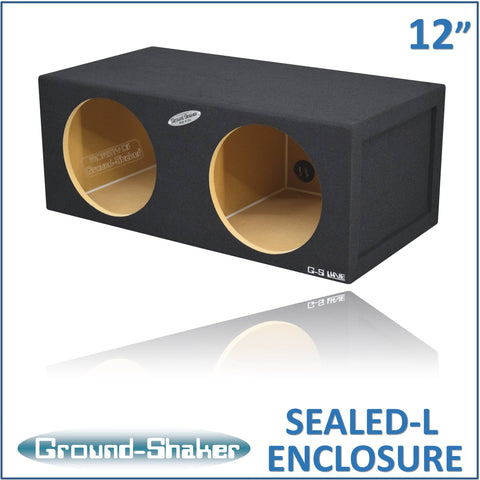 "GS-SQL212B <br>  BLACK LARGE 12"" DUAL SEALED SUB BOX"