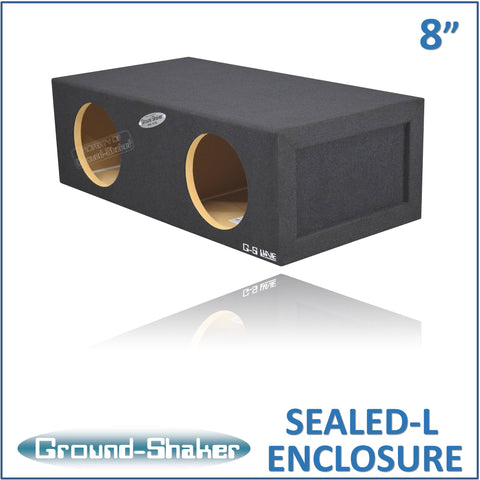 "GS-SQL28B <br> BLACK LARGE 8"" DUAL SEALED SUB BOX"