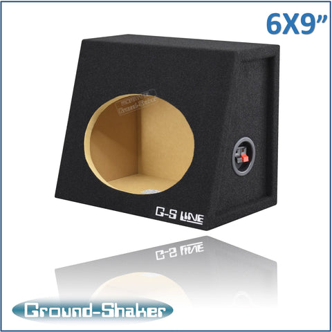 "GS-ST16X9B <br>BLACK ""6X9"" SINGLE SPEAKER ENCLOSURE"