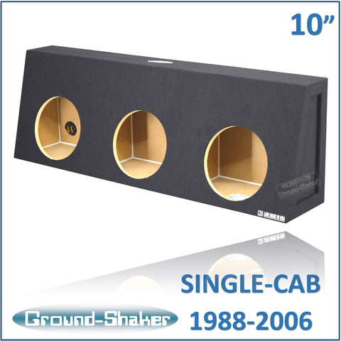 "CHV-ST310B <br> BLACK 10"" TRIPLE SEALED SUB BOX, FITS CHEVY SILVERADO & GMC SIERRA REGULAR-CAB 1988-2006"