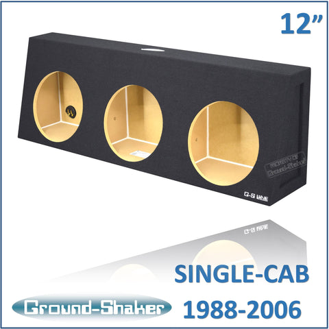 "CHV-ST312B <br>BLACK 12"" TRIPLE SEALED SUB BOX, FITS CHEVY SILVERADO & GMC SIERRA REGULAR-CAB 1988-2006"