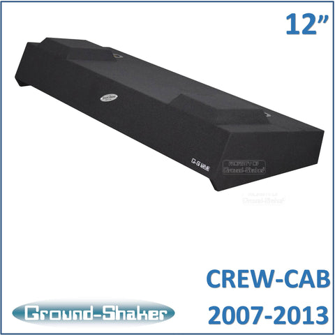 "GS-TCHV212B <br> BLACK 12"" DUAL SEALED SUB BOX, FITS CHEVY SILVERADO & GMC SIERRA CREW-CAB 2007-2013"
