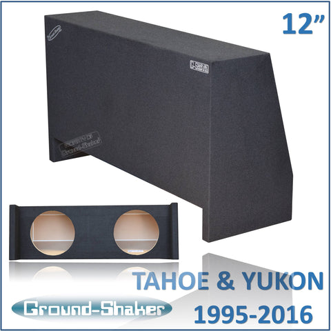 "GS-THDF212 <br> BLACK 12"" DUAL SEALED SUB BOX, FITS CHEVY-TAHOE AND GMC-YUKON 1995-2016"