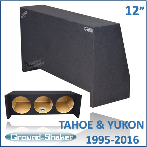 "GS-THDF312B <br> BLACK 12"" TRIPLE SEALED SUB BOX, FITS CHEVY-TAHOE AND GMC-YUKON 1995-2016"