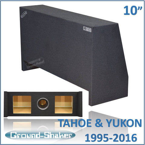 "GS-THDFKP210B <br> BLACK 10"" DUAL PORTED SUB BOX, FITS CHEVY-TAHOE AND GMC-YUKON 1995-2016"