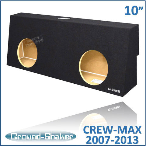 "GS-TOYCM210B <br>BLACK 10"" DUAL SEALED SUB BOX, FITS TOYOTA TUNDRA CREW-MAX 2007-2013"
