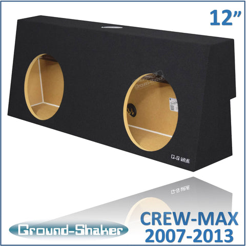 "GS-TOYCM212B <br>BLACK 12"" DUAL SEALED SUB BOX, FITS TOYOTA TUNDRA CREW-MAX 2007-2013"