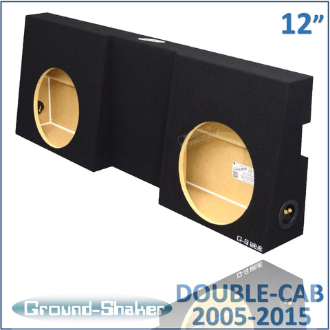 "GS-TOYTC212B <br>BLACK 12"" DUAL SEALED SUB BOX, TOYOTA TACOMA DOUBLE-CAB 2005-2015"