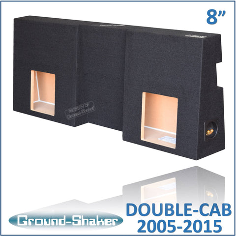 "GS-TOYTCKK28B <br> BLACK 8"" DUAL SEALED SUB BOX, TOYOTA TACOMA DOUBLE-CAB 2005-2015"
