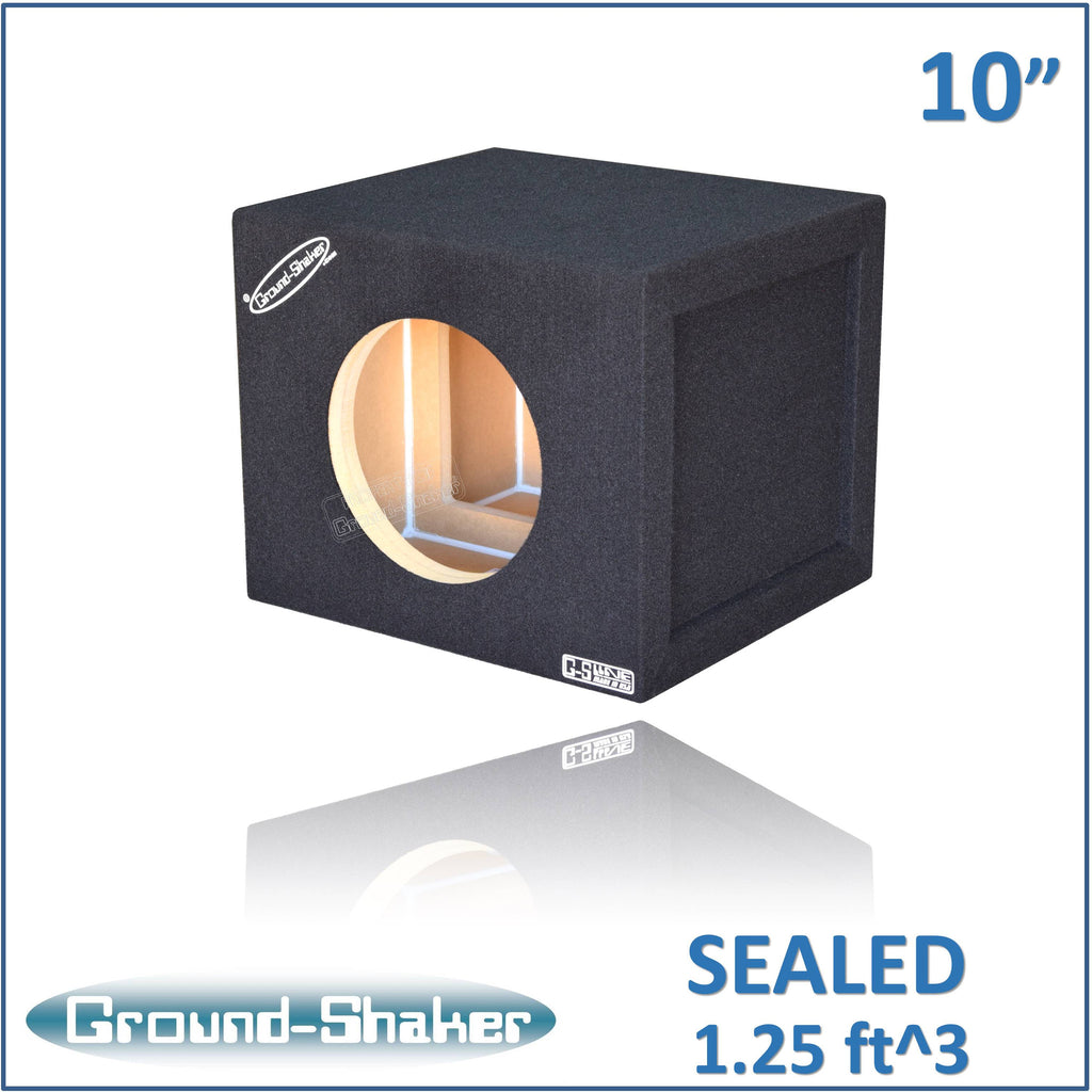 "GS-W7110B <br>BLACK 10"" SINGLE SEALED REINFORCED SUB BOX"