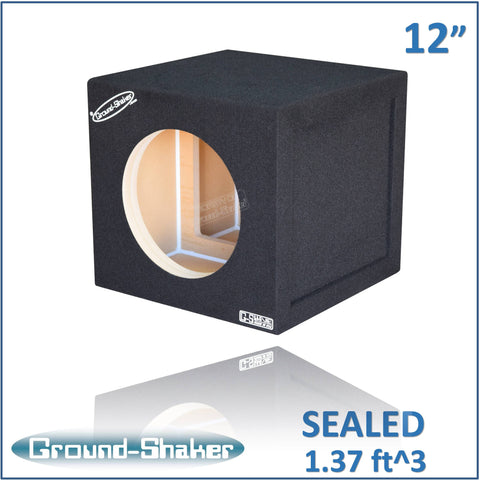 "GS-W7112B <br> BLACK 12"" SINGLE SEALED REINFORCED SUB BOX"