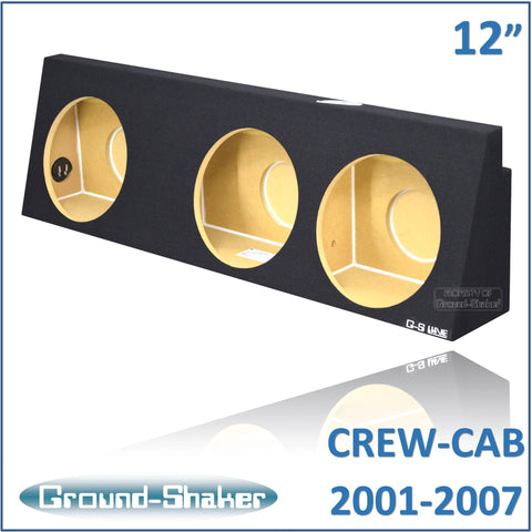 "GS-WCHV312B <br>12"" TRIPLE SEALED SUB BOX FITS CHEVY SILVERADO & GMC SIERRA 2001 TO 2006 & 2007 OLD BODY STYLE"