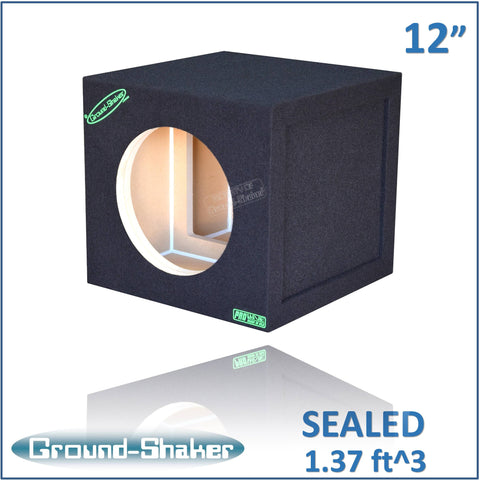 "GS-WX112B <br> BLACK 12"" SINGLE SEALED REINFORCED SUB BOX"