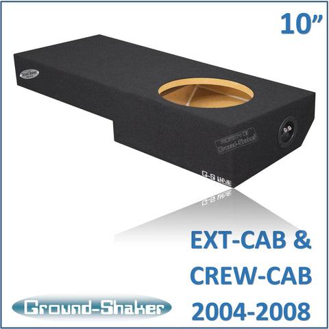 "GS-ZF150110B <br> BLACK 10"" SINGLE SEALED SUB BOX, FITS FORD F-150 EXT-CAB & CREW CAB 2004-2008"