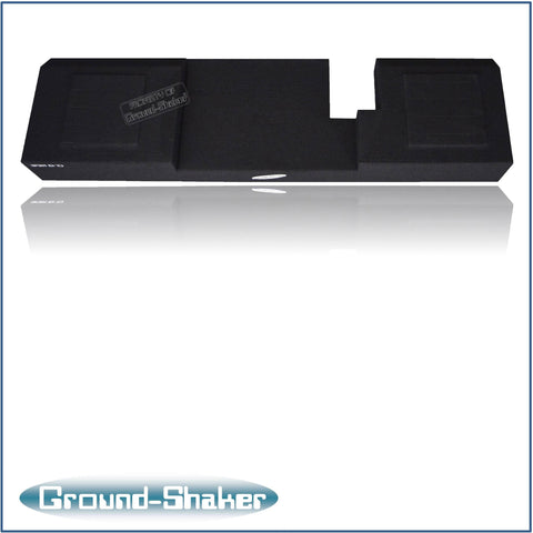 "GS-ZF150210B <br>BLACK 10"" DUAL SEALED SUB BOX, FITS FORD F-150 EXT-CAB & CREW-CAB 2004-2008"