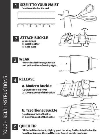 ratchet belt sizing instructions