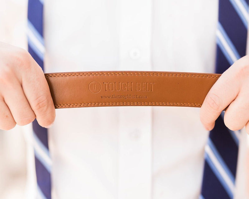 Light Brown Leather Strap - Tough Tie