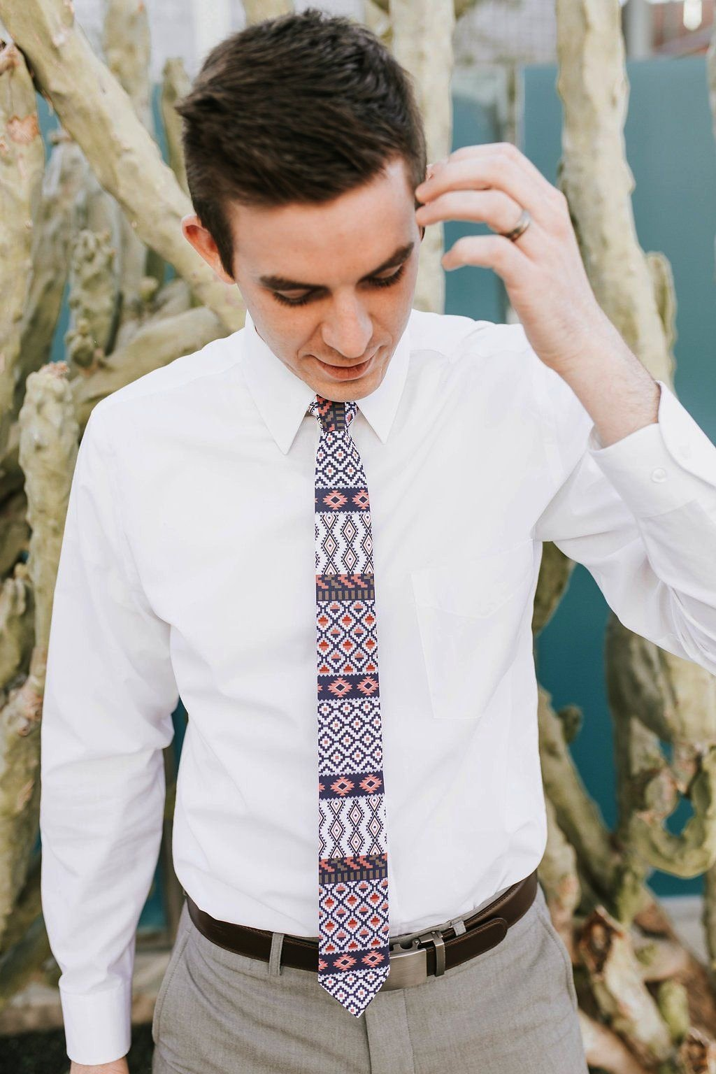 Nomad - Red White and Blue Tribal Tie