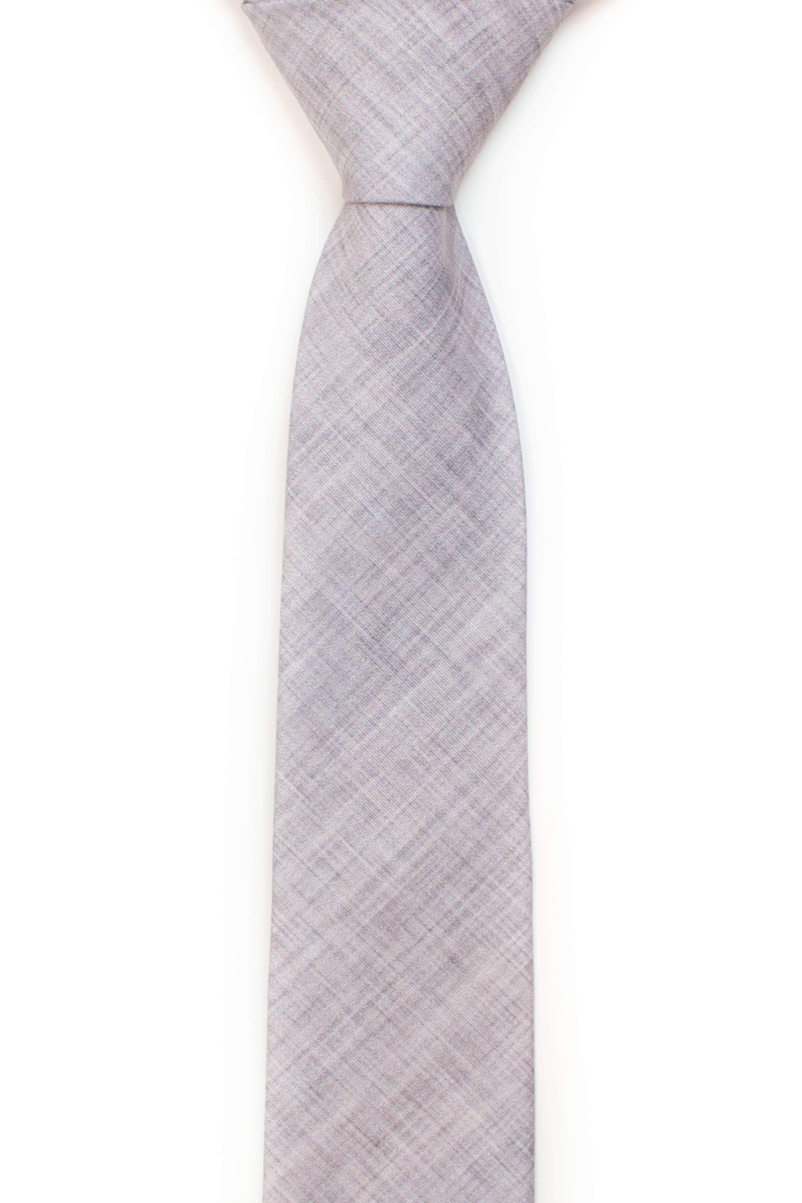 textured solid grey tie from tough apparel
