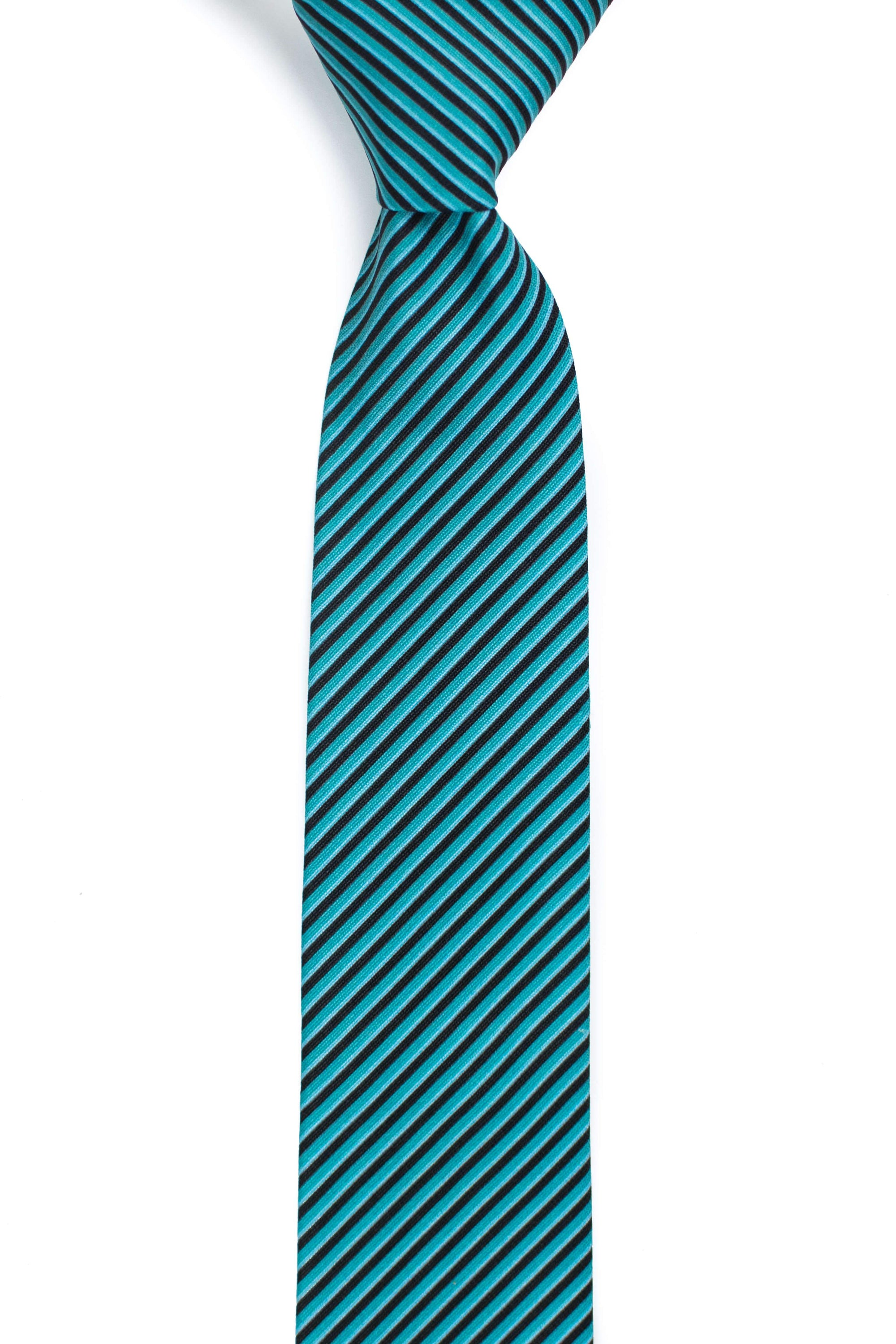 green and black striped tie front view tough apparel