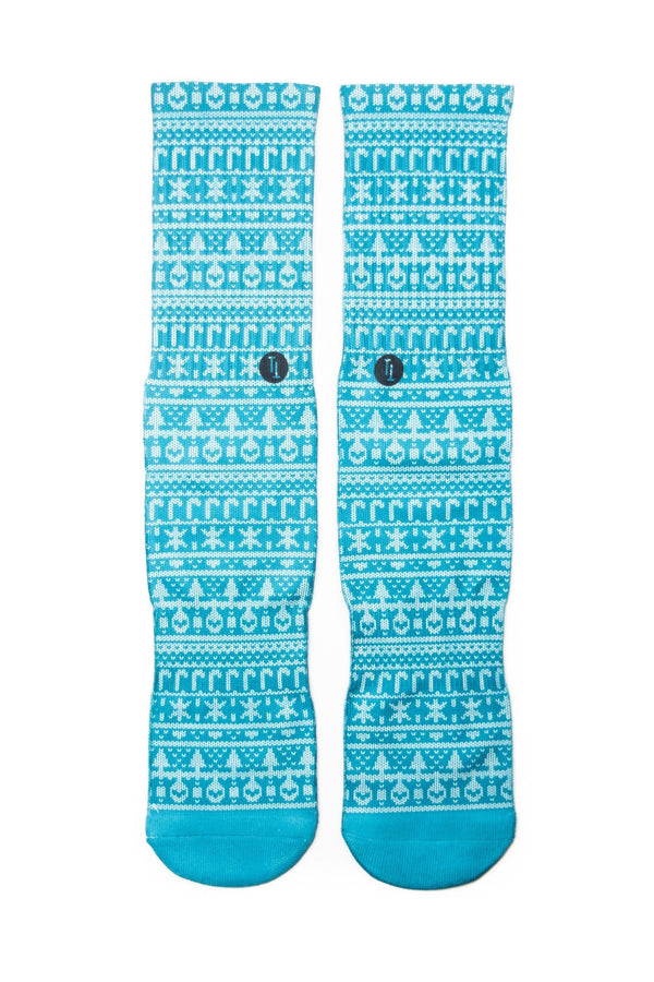 My grandma knit this blue ugly Christmas sweater Sock - Tough Tie