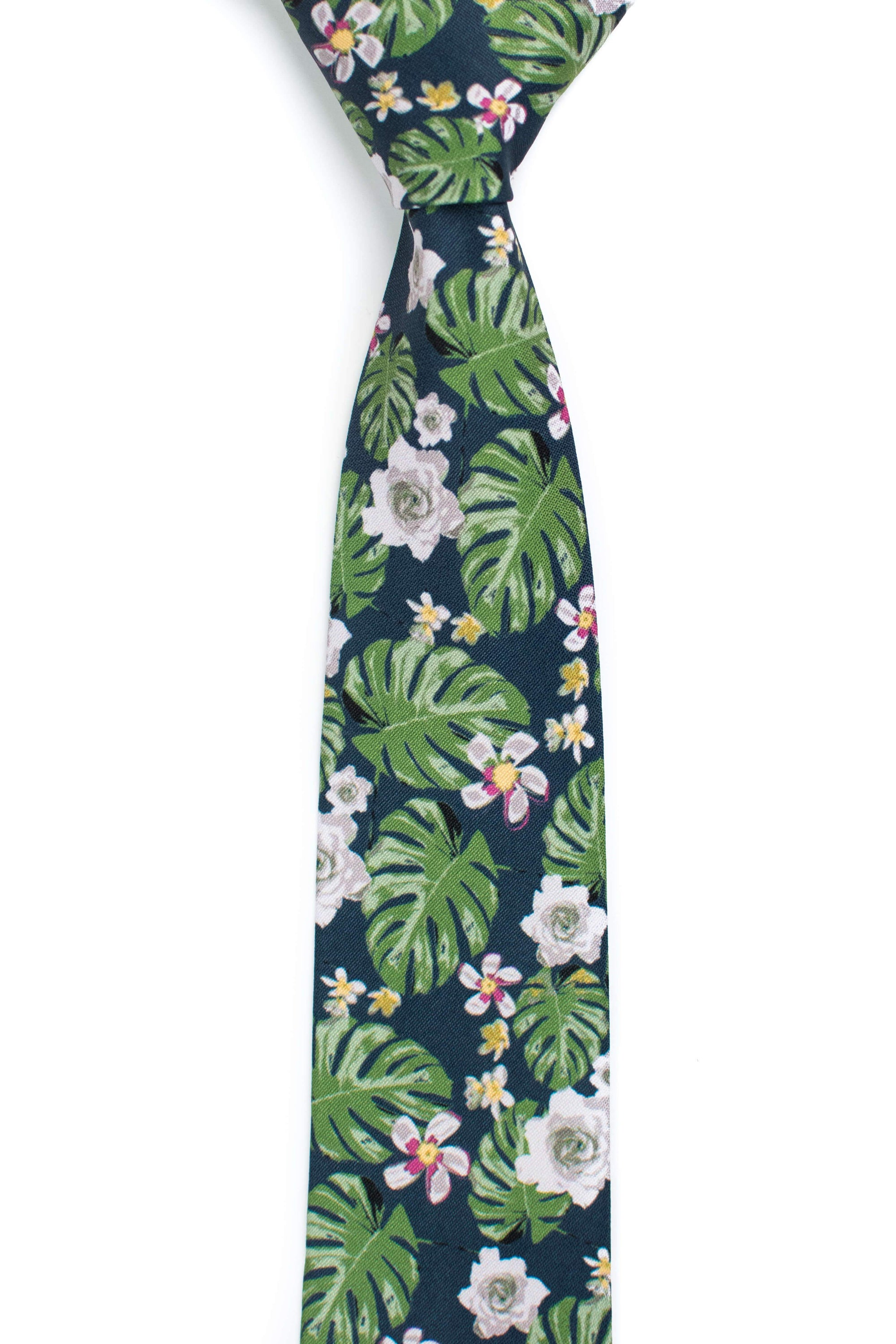 navy and green floral tie tough apparel