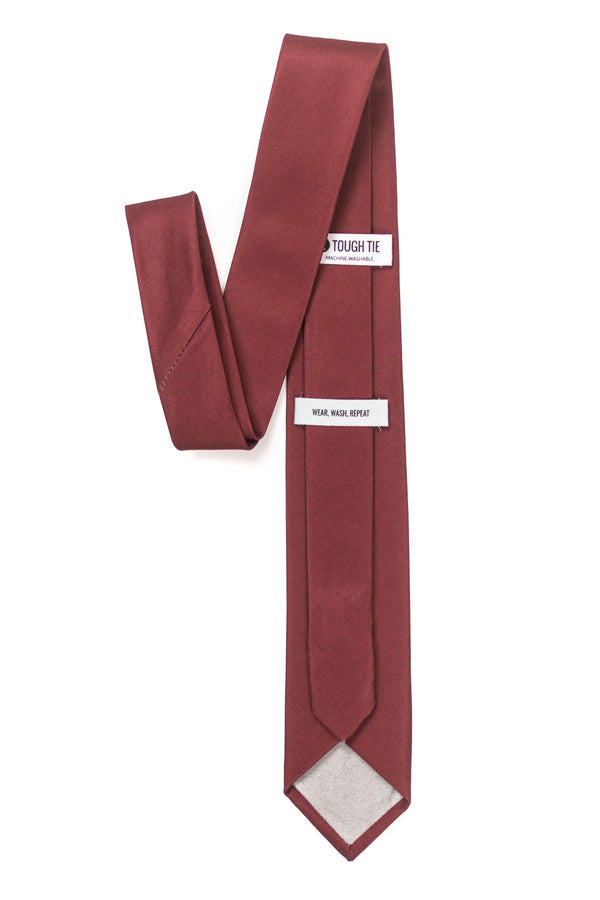 back view of burgundy tie by tough apparel