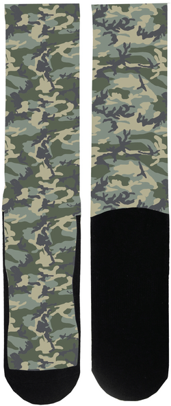 Caliber Camo Sock - Tough Tie