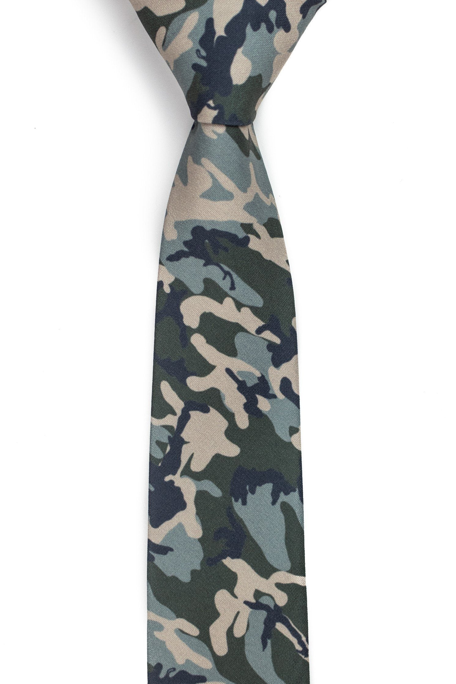 Caliber Camo - Brown, Tan and Green Camo Tie 2