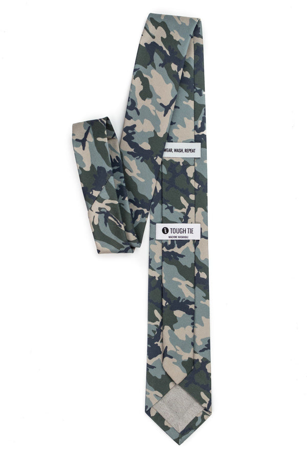 back view of camo tie