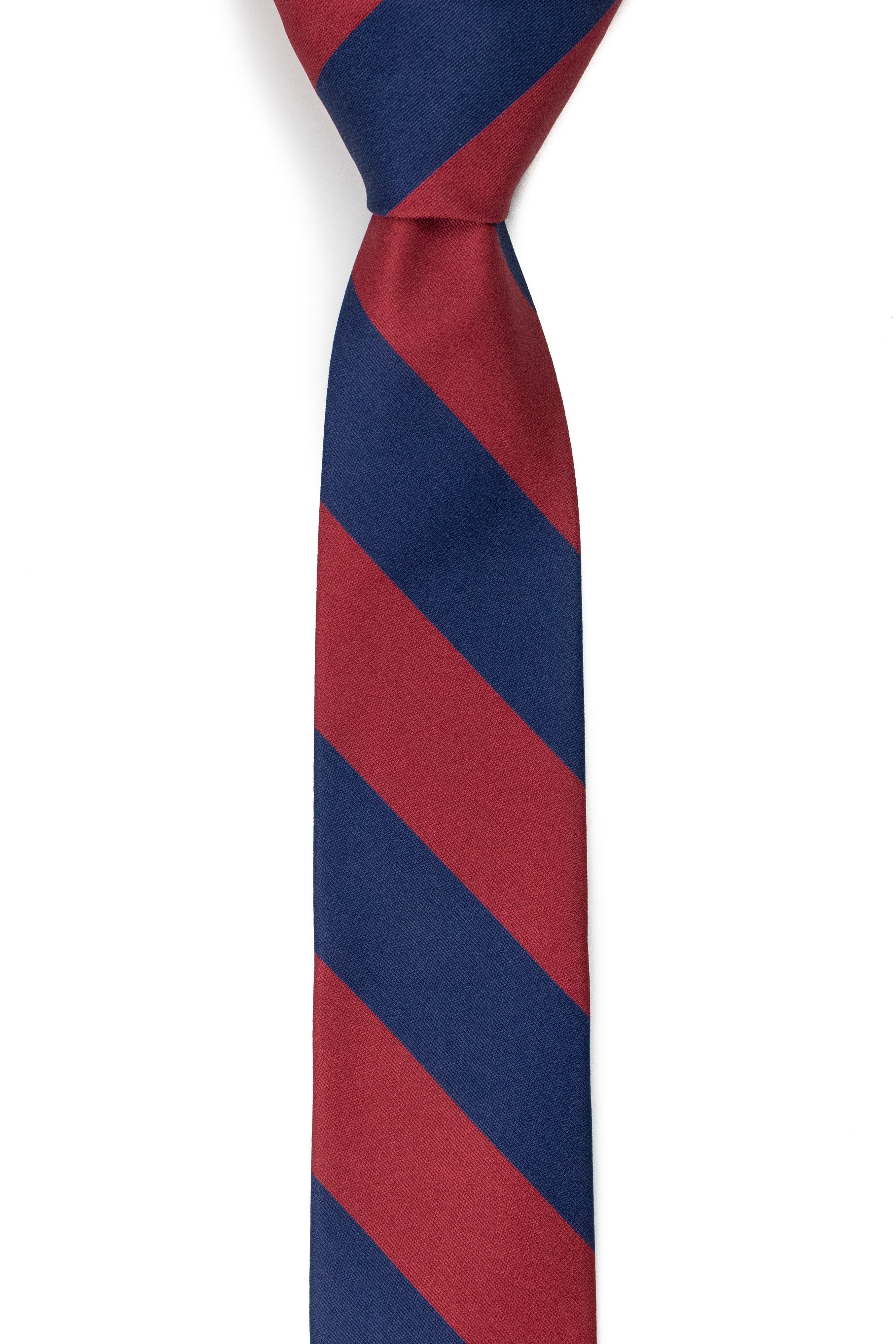 Charles - Navy and Red Striped Tie