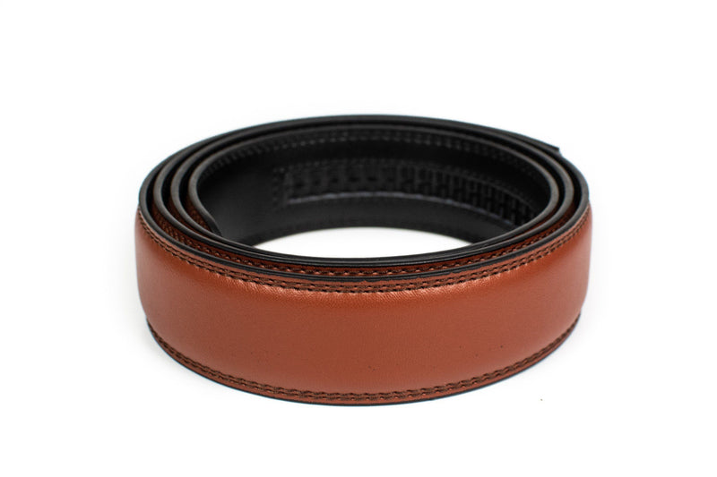 Chili Brown Leather Strap - Tough Tie