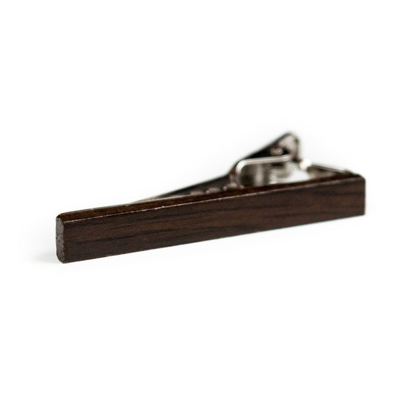 Dark Brown Wood Tie Bar - Tough Tie