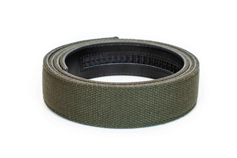 Green Canvas Strap - Tough Tie