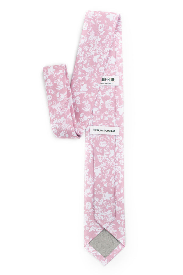 Back View of Floral Silhouette Blush Tie