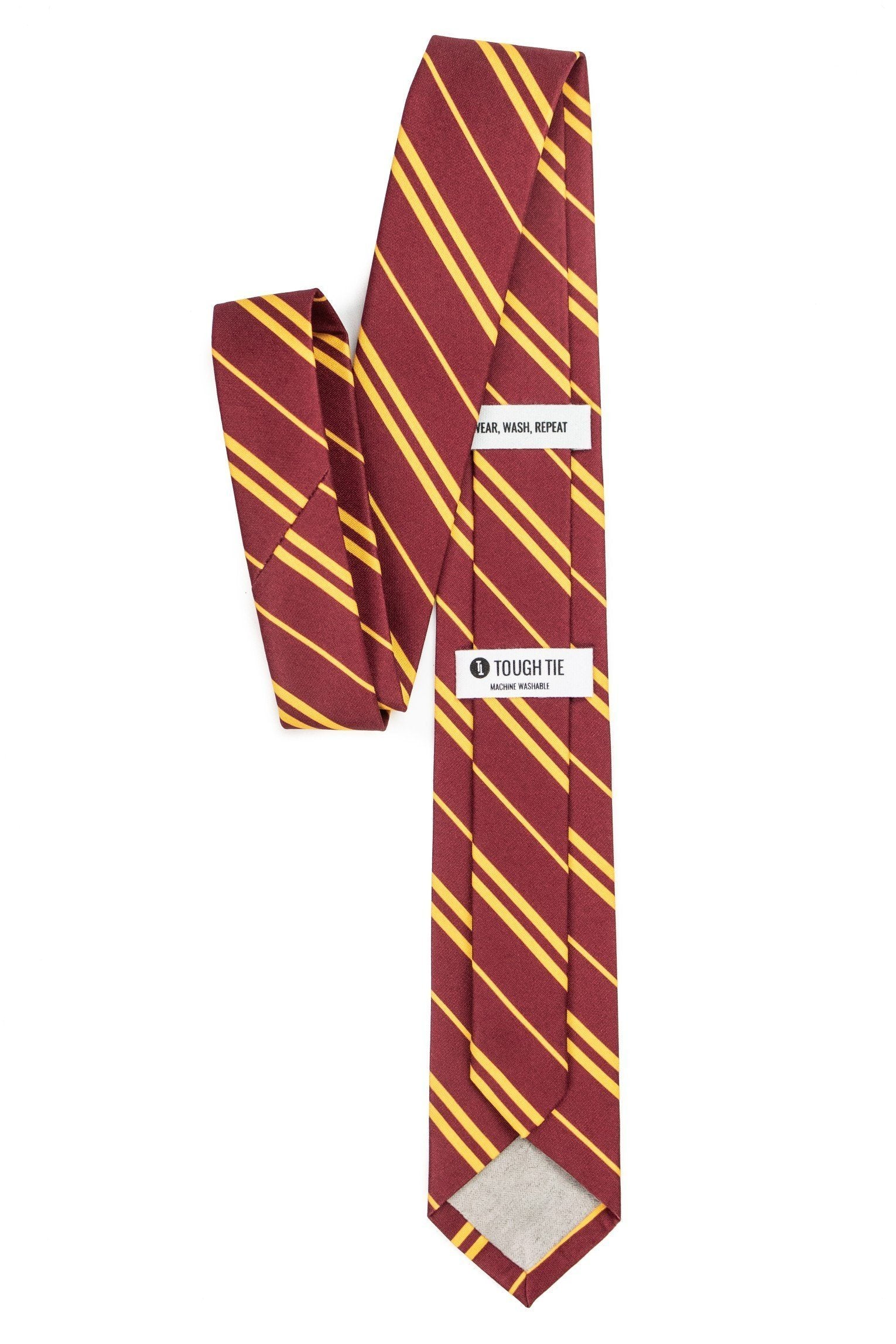 Gryffin's Door - Maroon Tie with Gold Stripes