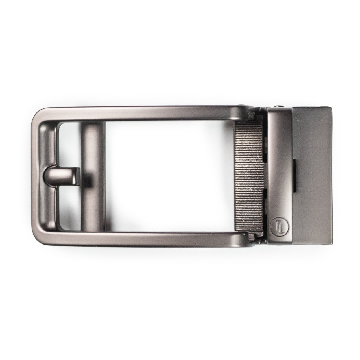 Traditional Style Gun Metal Buckle - Tough Tie