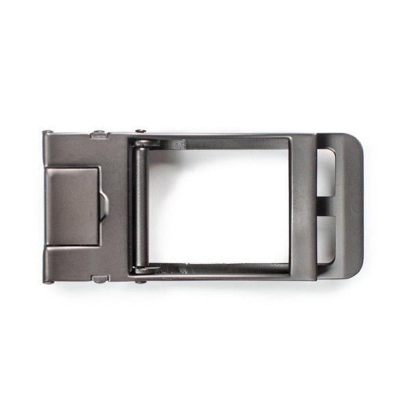Gun Metal Buckle (Traditional) - Tough Tie