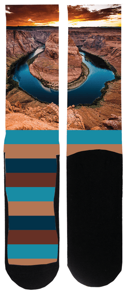 Horseshoe Bend Sock - Tough Tie