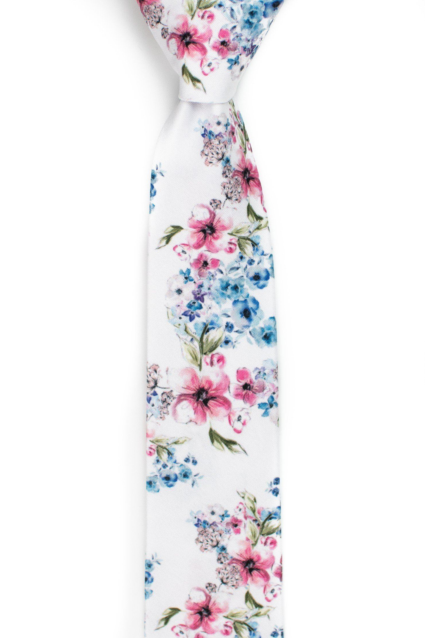 Madrid - White Floral Tie