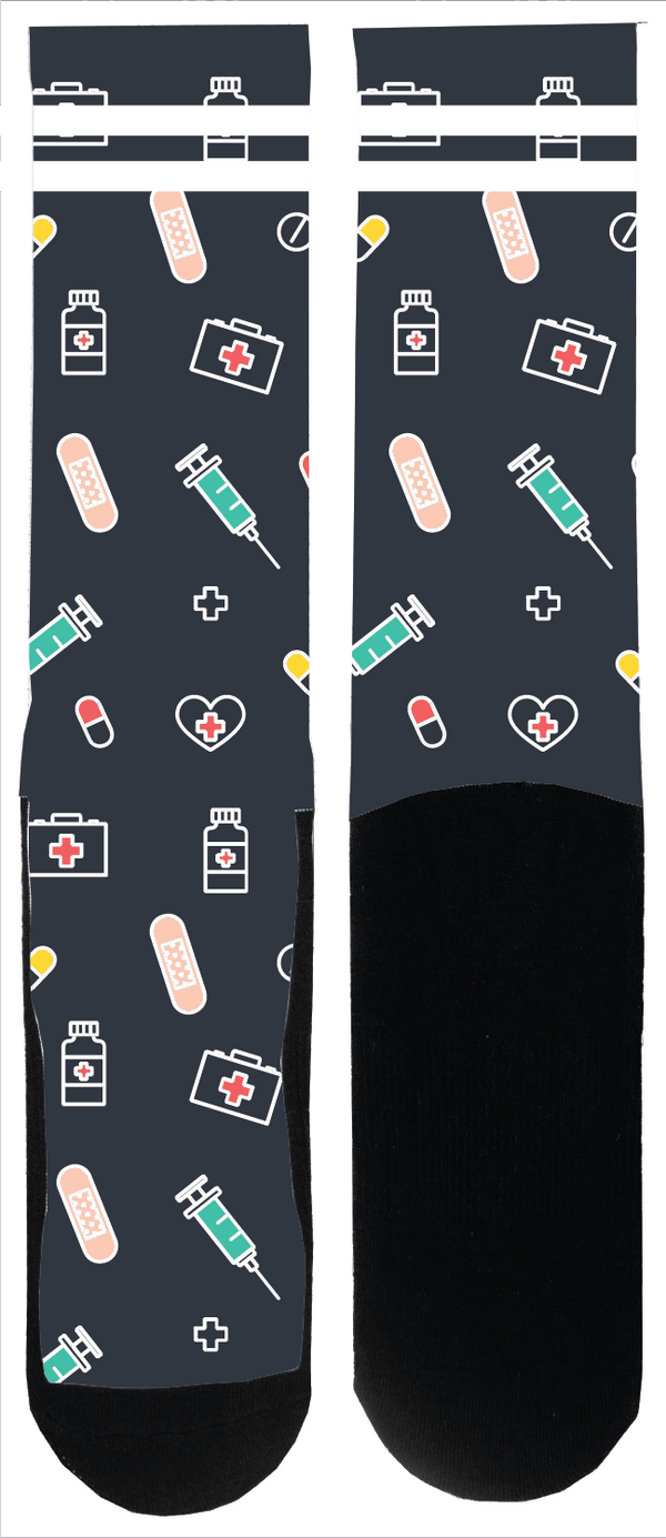 Medical Love Slate Sock