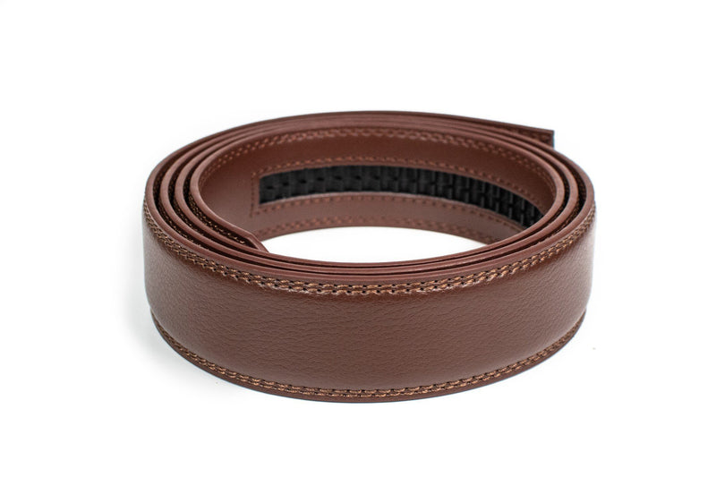 Medium Brown Leather Strap - Tough Tie