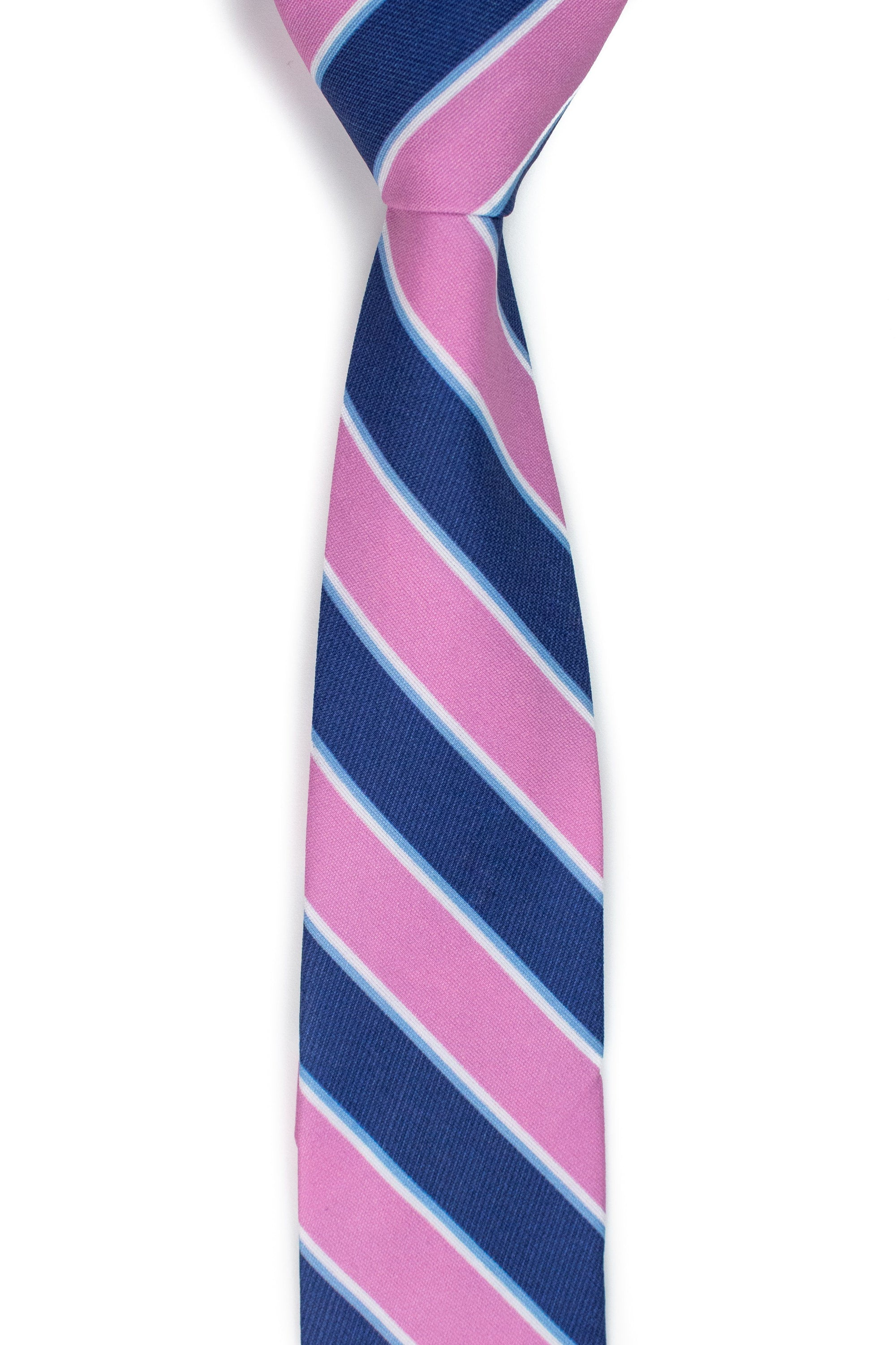 Melbourne - Navy and Pink Striped Tie