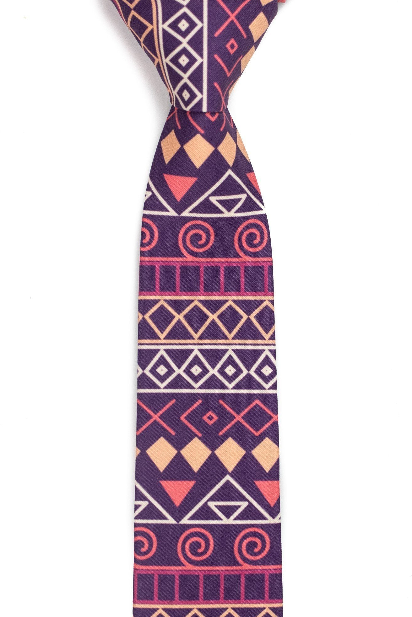 Maui - Dark Pink Tie (Tribal)