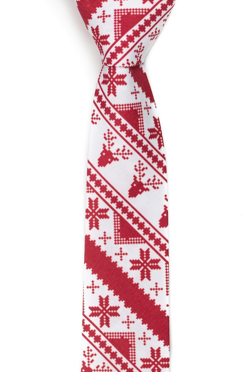 Rudolph's Journey Red Ugly Christmas Sweater Tie - Tough Tie