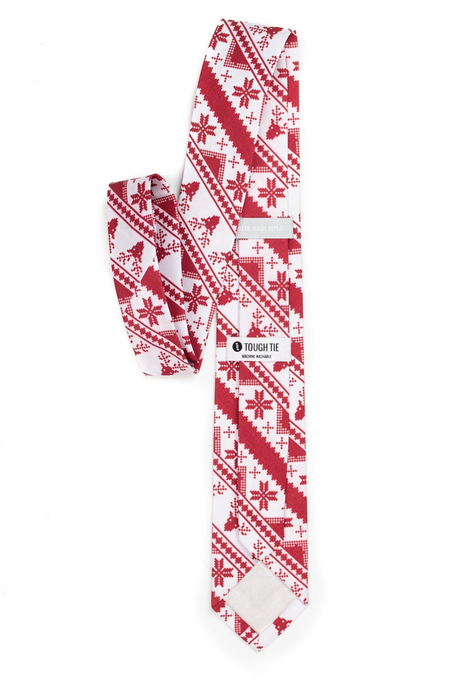Rudolph's Journey red ugly Christmas sweater tie | Boy's - Tough Tie