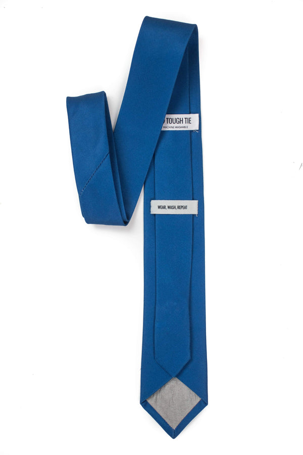 back view of royal blue tie from tough apparel