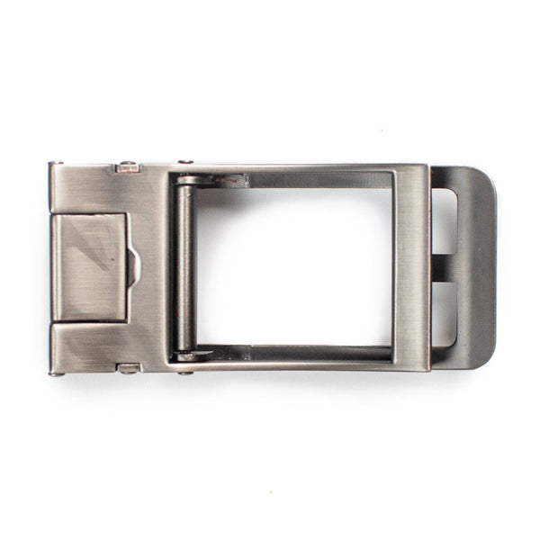 Traditional Style Silver Buckle - Tough Tie