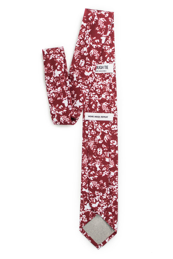 Crimson Red Floral Tie Back View