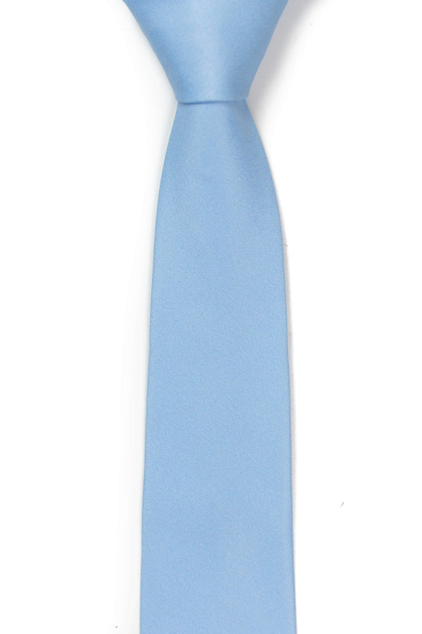 front view of sky blue tie from tough apparel
